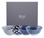 Preview: TDS, 4 Schalen Set, Floral Blue, Ø 13,5 cm, Art.-Nr. 7055