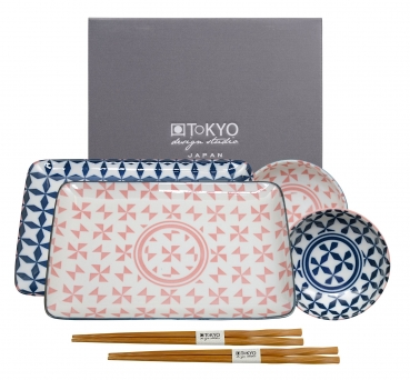 TDS, Sushi Set, Geometric, Art.-Nr. 14198