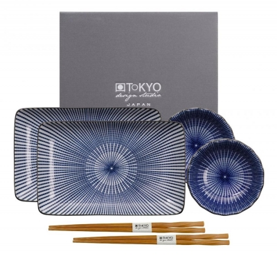 TDS, Sushi Set, Floral Blue, Art.-Nr. 14350