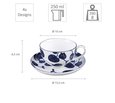 4 pcs Mug Set with saucers at Tokyo Design Studio (picture 6 of 6)