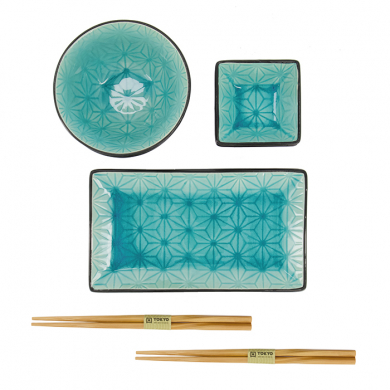 Glassy Turquoise Sushi Set at Tokyo Design Studio (picture 3 of 6)