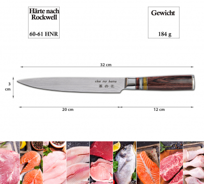 Sashimi Knife with 3 acryl-circles (fillet knife) at Tokyo Design Studio (picture 7 of 7)