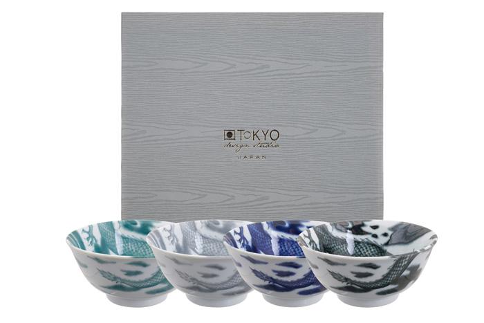 ☯ Tayo Bowls, Dragon, 4 pcs , Ø 15 cm, Item No  16181 - TDS