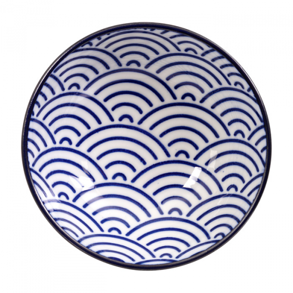 Nippon Blue Giftset Plate with 3 Sauce Dishes at Tokyo Design Studio (picture 3 of 3)