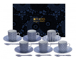 TDS, Espresso Set, Nippon Blue, 18 pcs, Item No. 14887