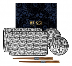 TDS, Sushi Set, Nippon Black, 6pcs, Item No. 15150
