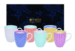 TDS, Mug Set, 6 pcs, Starwave, 380 ml, Item No. 15717