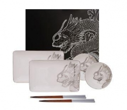 TDS, Sushi Set, Dragon, 6tlg, Art.-Nr. 16202