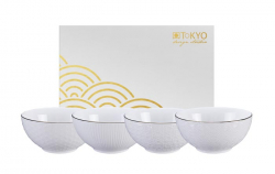 TDS, Rice Bowls, Nippon White, 4 pcs., Ø 15 cm, Item No. 16458