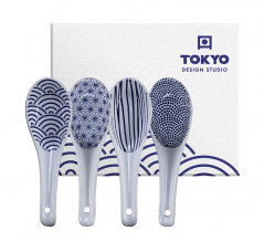 TDS, 4 Suppenlöffel Set, Nippon Blue, 13,8 cm, Art.-Nr. 16776