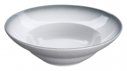 TDS, Bowl, White Grey Rim, Ø 23.5 cm, Item No. 17363