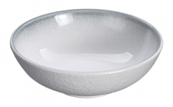 TDS, Bowl, White Grey Rim, Ø 10 cm, Item No. 17372