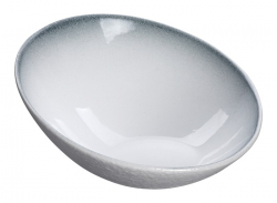 TDS, Bowl, White Grey Rim, Ø 17.8 cm, Item No. 17377