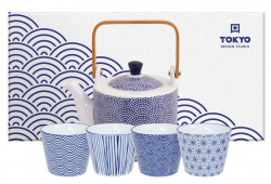 TDS, Tea Set, Nippon Blue, 5pcs, Item No. 17990
