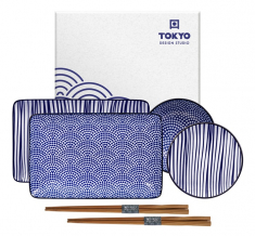 TDS, Sushi Set, Nippon Blue, 6pcs, Item No. 17991