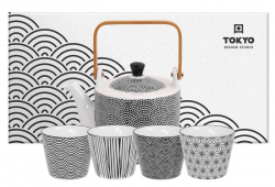 TDS, Tea Set, Nippon Black, 5pcs, Item No. 17996