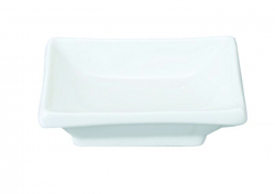 TDS, Sauce Plate, White Series, 10x6cm, Item No. 7163