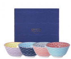TDS, Rice Bowls, Starwave, 4 pcs., Ø 12 cm, Item No. 8861